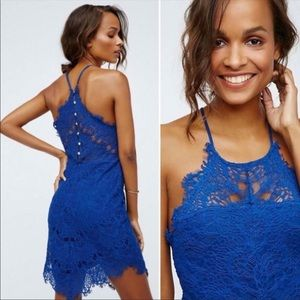Free People She's Got It Lace slip dress XS